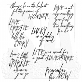 Stampers Anonymous/Tim Holtz - Cling Mount Stamp Set - Handwritten Thoughts - CMS218